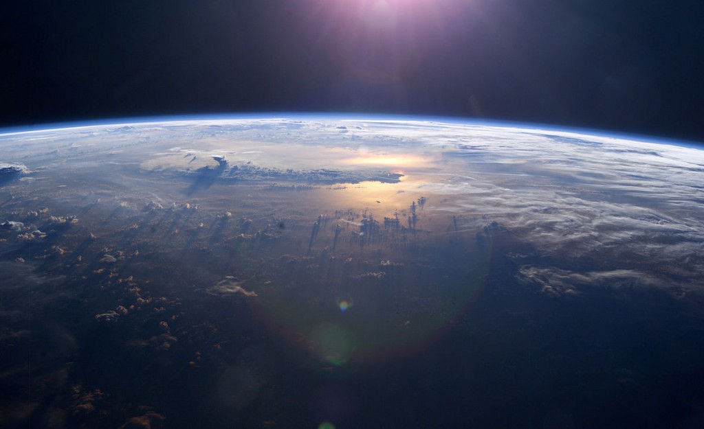 The Pacific Ocean, as seen from the International Space Station.