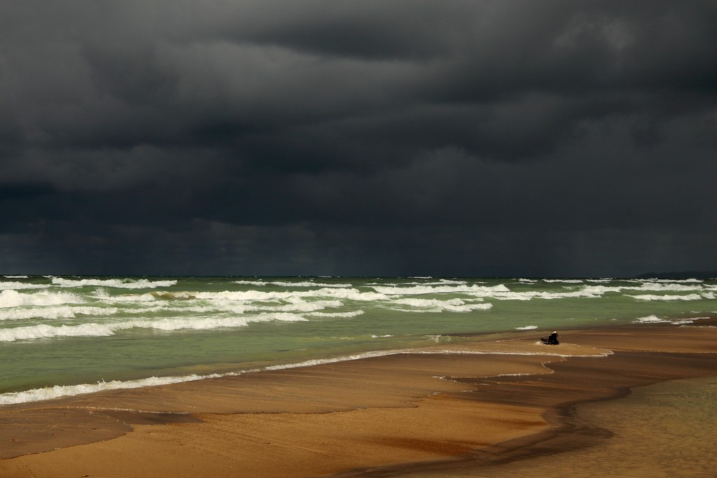 Lake Michigan with a storm coming. Photo by John Menard, aka JMenard48 on Flickr.