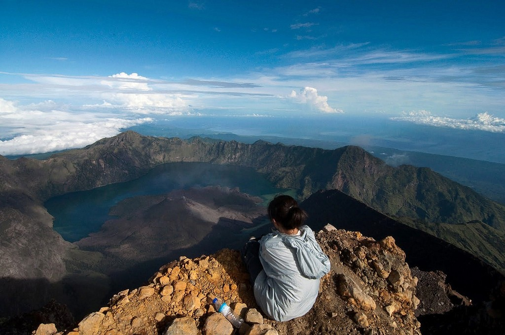 Creative Commons photo by Flickr account TrekkingRinjani. Of... trekking in Rinjani.