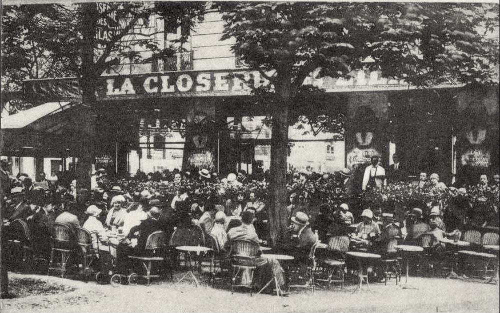 La Closerie. Paris. 1909. They'd rent tables to artists for hours. Still in biz today. Creative Commons.