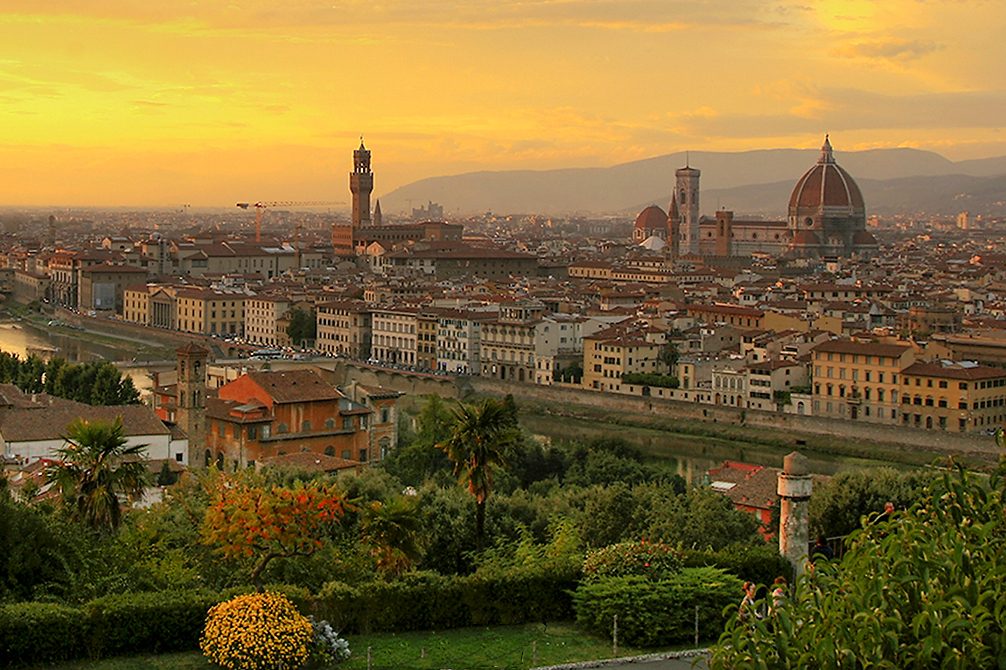 Florence, the birthplace of the Renaissance, and a food capital in its own right, since its all about Tuscany. Creative commons image from Steve Hershey.