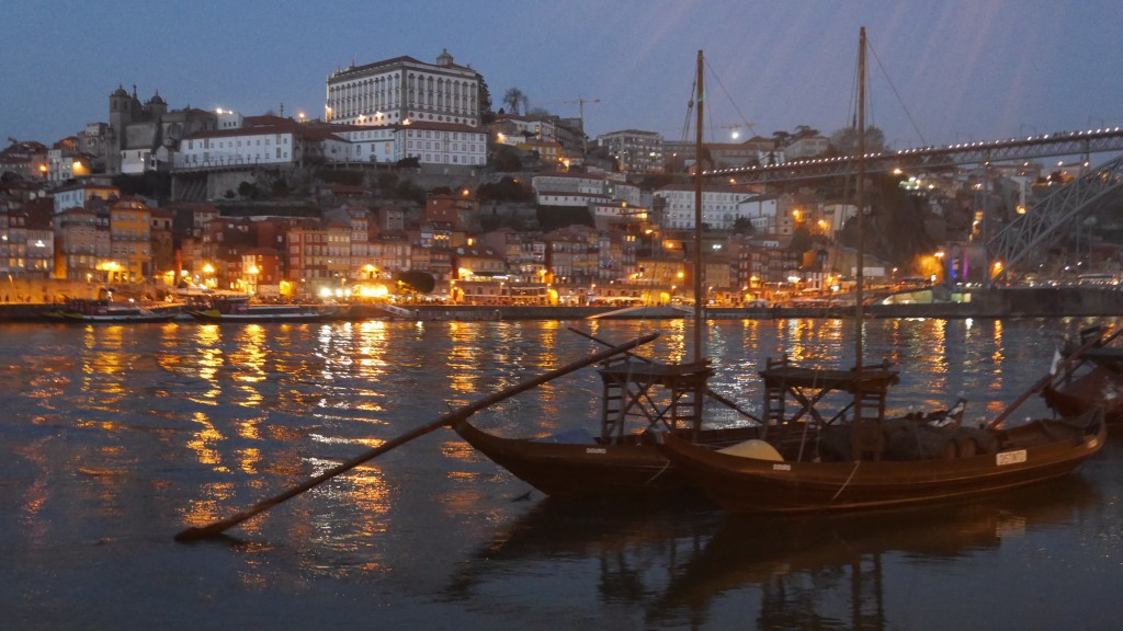 Porto as seen from the wine lodges on the Gaia side of the Douro river.