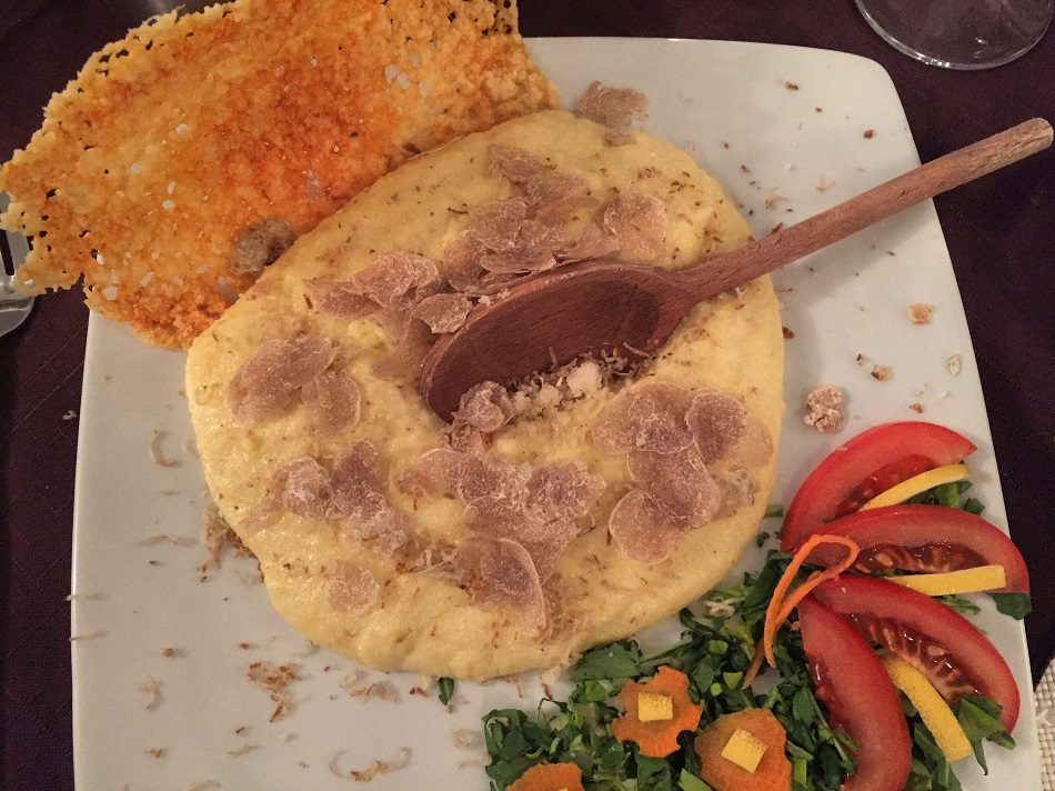 Looks simplistic, and Italian, but polenta is as Istrian as anything, and these white truffles are among the best in the world, and this is a meal I will remember forever.