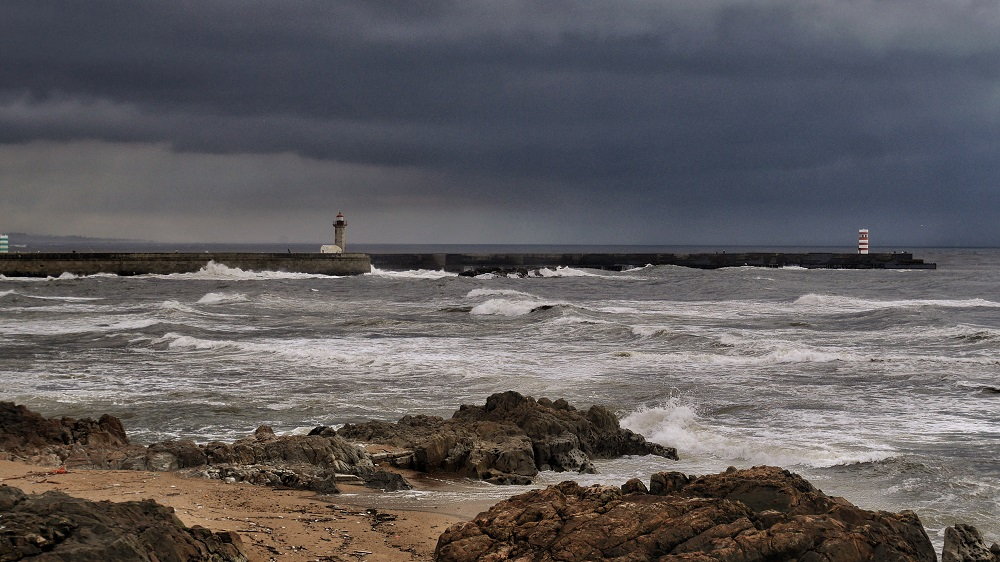 Porto, Portugal, before a storm rolls in off the Atlantic Ocean.