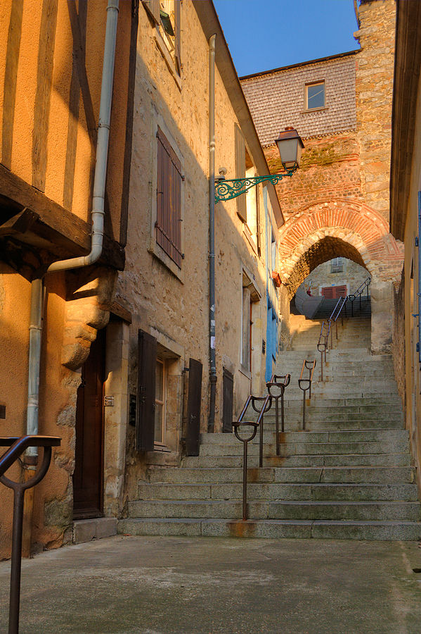 Oh, look. More stairs. An alley in Le Mans, France, by Simon Koopman, aka Simonizer, for Wikipedia.
