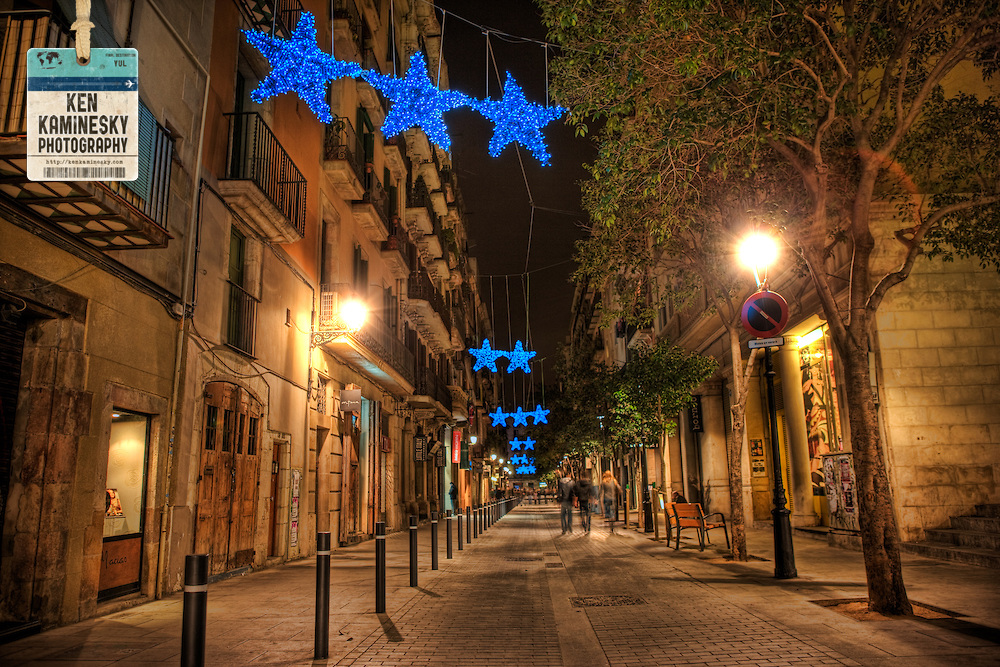 Photo of Barcelona's Gothic Quarter in Christmastime, when I'll be there from the 13th to the 20th, living right in this area. Photo by Ken Kaminesky.