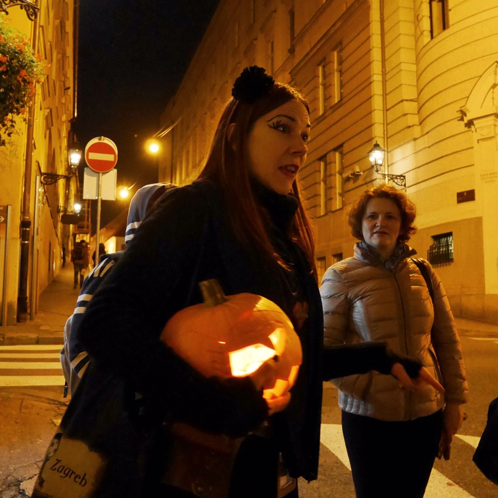 I met some great Zagreb folks, like Iva here from the Ghostly Walks tour put on by Secret Zagreb. She's a passionate historian, so you'll learn neat stuff.