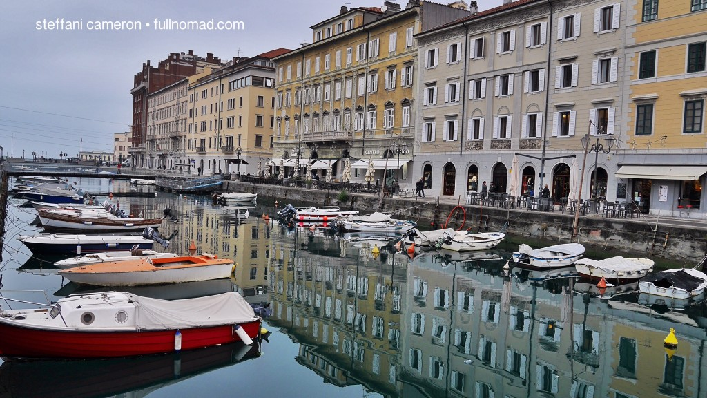 "Boats, Habsburg architecture. Here's Northern Italy to a T -- ""T"" as in ""Trieste."""
