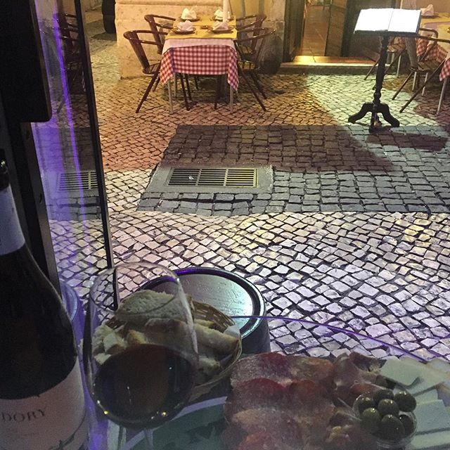 Mm. Dinner. The Old Pharmacy Wine Bar. Lisbon, Portugal. Ola!