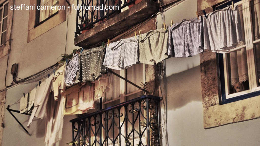 Okay, so a post like this feels a bit like I'm airing my dirty mental laundry, so why not share a photo of boxer shorts drying in the night of Lisbon's Bairro Alto?