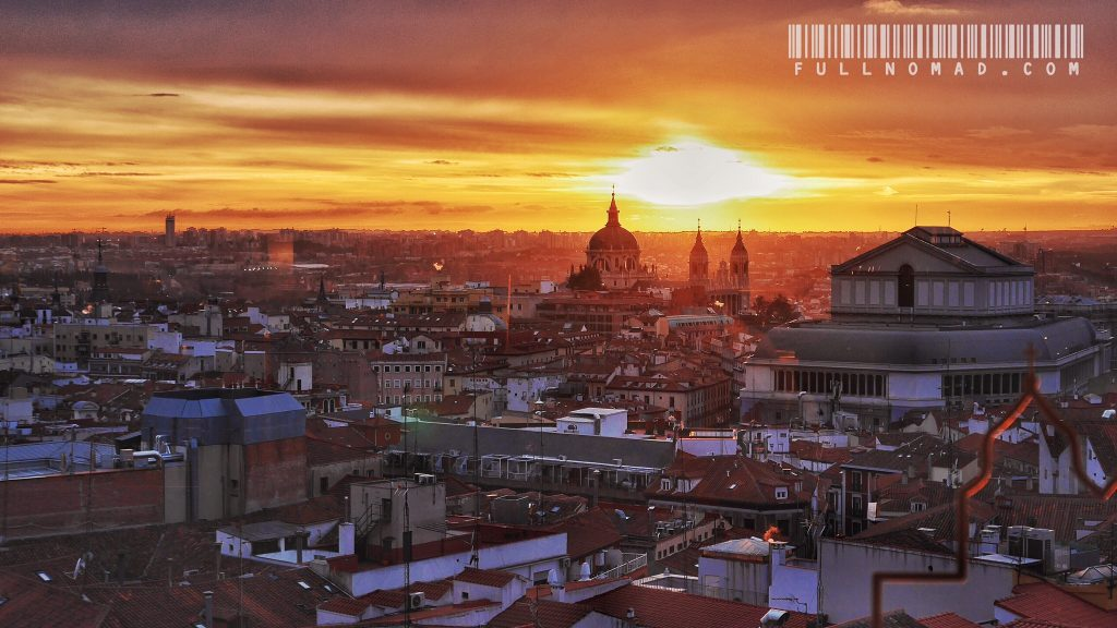 Sunset over Madrid.