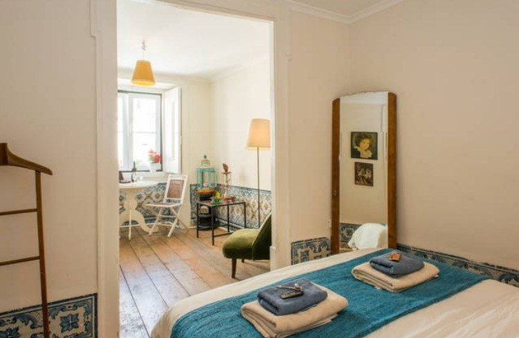 Bairro Alto, Lisbon's amazing Fado District, is pricy to stay in, but I got this double room with a private bathroom in the heart of it for about what I'd probably pay to stay in Roam, but I also stayed with locals who were incredibly gracious and fun and taught me about the area. Photo from AirBNB.com.